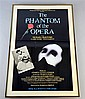 Framed Phantom of the Opera Theatre poster and a postcard signed by Margot Fonteyn