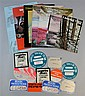Ten Tangerine Dream programmes/flyers 1974-78 & 12 original linen Tangerine Dream backstage passes 1977-80, 22 items,