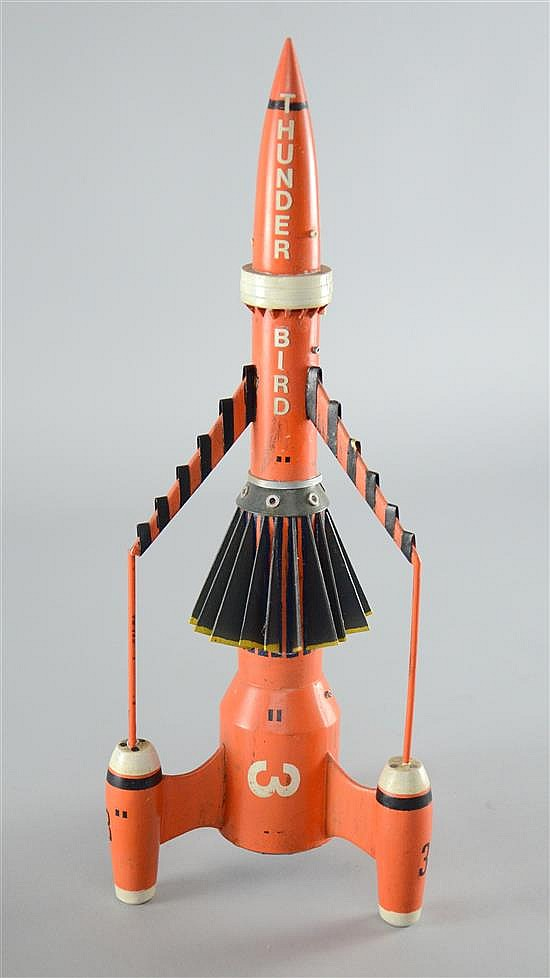 † Thunderbirds, a studio scale model of Thunderbird 3