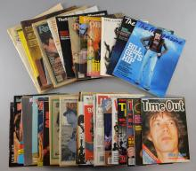 The Rolling Stones related magazines 1960És-90És, including The Crazy World of EnglandÉs Rolling Stones, 4 Zigzag magazines, 5 Rolling Stone magazines, a 60És show souvenir, Time Out Performance poster-magazine & various interesting colour newspaper supplements, (30+)
