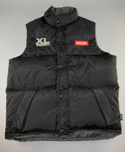U2 All That You Can't Leave Behind Promotional only Gilet made by Harvest with Logo on reverse & XL Video, Barco on front, black with original tag, unworn, Size L