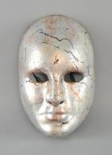 ¹ The Da Vinci Code (2006), Priory Of Sion prop face mask from the Dan Brown film adaptation, constructed of a lightweight, painted plastic with interior comfort pads and elasticated head band strap, originating from Angels Costumiers & bearing interior name label, `Richard Simpson'