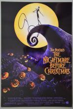 Tim Burton, The Nightmare Before Christmas, signed 12x8 photograph