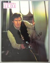 Harrison Ford, Star Wars Return of The Jedi, signed promotional photograph
