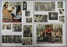 Pretty Things collection pasted onto album pages, including fan club literature (7), Phil MayÉs autograph, Publicity photos (3), magazine cuttings (many in colour), sheet music, all from 1964/65 (120+ items)