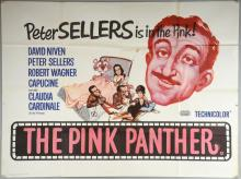 The Pink Panther (1963) British Quad film poster, starring Peter Sellers & David Niven, United Artists, folded, 30 x 40 inches