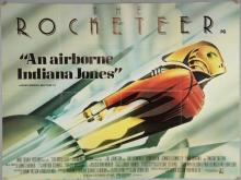 The Rocketeer (1991) British Quad film poster, Disney, folded, 30 x 40 inches