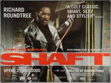 Shaft (2000) British Quad film poster, BFI release, MGM, rolled, 30 x 40 inches