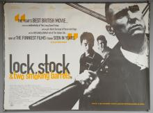 Lock, Stock & Two Smoking Barrels (1998) British Quad film poster, directed by Guy Ritchie, SKA Productions, rolled, 30 x 40 inches