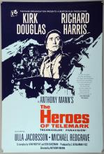 The Heroes of Telemark (1965) One Sheet film poster, starring Kirk Douglas, Richard Harris, Rank, rolled, 27 x 40 inches