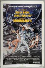 James Bond Moonraker (1979) One Sheet film poster, starring Roger Moore, United Artists, folded, 27 x 41 inches
