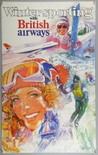 Winter sporting with British Airways, Travel poster, artwork by Brian Bysouth, signed, Printed in Great Britain, No. 150, rolled, 25 x 40 inches. This lot has been consigned by Brian Bysouth.