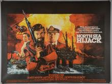 40+ British Quad film posters including North Sea Hijack, Silver Dream Racer, The Karate Kid Part III, Who Framed Roger Rabbit, Saintly Sinners & others, folded, 30 x 40 inches (40+)