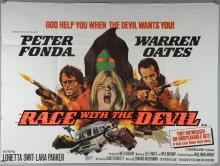 40+ British Quad film posters including Race With The Devil, Times Square, The Long Riders, Yentl, Silver Dream Racer, Honky Tonk Freeway & others, folded, 30 x 40 inches (40+)