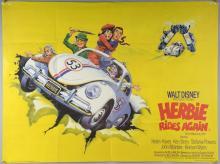40+ British Quad film posters including Herbie Rides Again, Flash Gordon x2, 1941, Django Kill, Little Big Man, The Hunter, Smokey & The Bandit, Companeros & others, folded, 30 x 40 inches (40+)