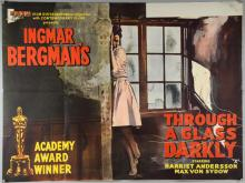 Three British Quad film posters by Ingmar Bergman including Through A Glass Darkly (1961), The Face (1958) & Wild Strawberries (1957, folded, 30 x 40 inches (3)