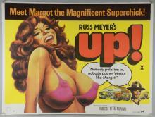 Russ Meyer's Up! (1976) British Quad film poster, Tigon, folded, 30 x 40 inches