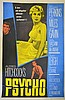 Psycho (1960), US One Sheet film poster, directed by Alfred Hitchcock, starring Anthony Perkins, Janet Leigh and Vera Miles,