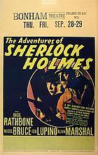 The Adventures of Sherlock Holmes (1939). Window Card, starring Basil Rathbone, 20th C Fox,