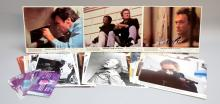 42 lobby cards & stills, including 7 numbered cards from the Clint Eastwood film Escape from Alcatraz, 8 numbered lobby cards from the Sophia Loren, Robert Vaughn & Patrick McGoohan film Brass Target & seven National Film Archive stills, 20 stills from Silver Streak
