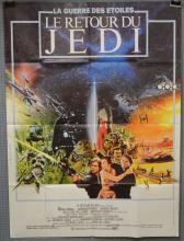 Star Wars Return of The Jedi (1983) French Grande film poster, artwork by Michel Jouin, directed by George Lucas, 20th C Fox, folded 47 x 63 inches119 x 157cm
