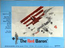 The Red Baron (1971) British Quad film poster, War starring John Phillip Law, United Artists, folded, 30 x 40 inches