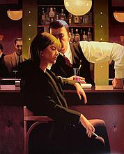 § Jack Vettriano b1951. 'Cocktails and Broken Hearts'. Signed Limited Edition screenprint.