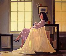 § Jack Vettriano, b.1951. 'Winter Light & Lavender'. A signed Limited Edition screenprint.