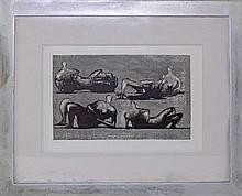§ Henry Moore limited edition print 111/X signed in pencil