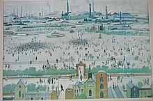 § After L S Lowry - print signed in pencil., Frost & Reed label verso