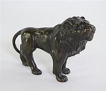 20th century bronze lion