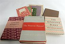 A collection of limited edition books designed and printed by Edward Burrett of the Penmiel Press