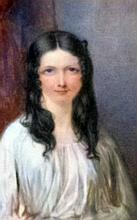 19th Century portrait of a young girl in a white dress, oil on ivory, unsigned