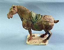 Antique style Chinese pottery horse