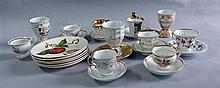 Collection of 19th century and later German teacups etc.
