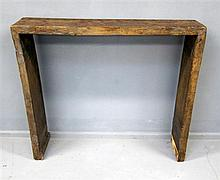Antique Chinese elm alter table of plank construction