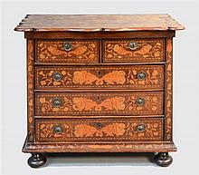 REVISED ESTIMATE: 18th century Dutch marquetry inlaid walnut chest