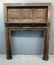 Early 20th century oak fire surround