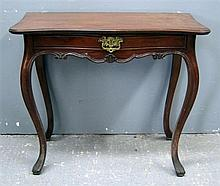 20th century French serpentine table with a single drawer