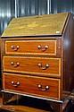 An early 20th Century inlaid mahogany bureau