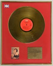 Martika, Gold disc presented to Tim Byrne to recognise sales in the United Kingdom of more than 100,000 copies of the CBS self titled album, 1990, framed, 20 x 16 inches.Provenance: Collection of Tim Byrne.