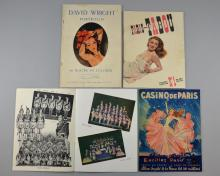 Vintage Ephemera including David Wright The Portfolio, Paris Tabou Mensuel No1 80FRS, Casino De Paris & Folies Bergere (4)