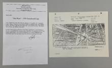 Star Wars, Storyboard of the Death Star from 1976, with letter from Howard Stein regarding how he got hold of the storyboards, 8.5 x 11 inches