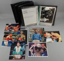 Boxing - Posters, flyers, press packs, ringside passes & tickets mainly from the Lennox Lewis camp & a large quantity of press photos including Muhammad Ali, Ernie Shavers, Frank Bruno, Lennox Lewis & others (200+ items)
