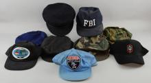 Nine Military related caps owned by Sir Christopher Lee, including: Croatian Anti-Terrorist & Russian Airborne (9).Provenance: From the Estate of Sir Christopher Lee.