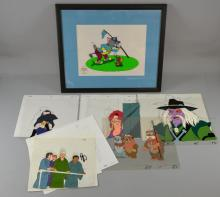 Collection of Hand Painted cels including Tom & Jerry, limited edition 1991, An Ewok Adventure & others.Provenance: This lot has been consigned by Duncan Halls, a collector of Film & TV Memorabilia. During the past 30 years he has amassed a vast collection and has had the pleasure of collecting all his signatures in person. He has worked as an extra since 1999 and appeared on sets such as Steven Spielberg's Band of Brothers, Bourne Ultimatum, Green Zone, Children of Men, Harry Potter, Batman & many others.