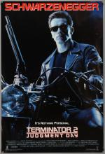 Terminantor 2: Judgment Day (1992) One sheet film poster, starring Arnold Schwarzenegger, Tri-Star, rolled, 27 x 40 inches