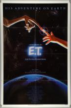 E.T. The Extra-Terrestrial (1982) One sheet film poster, Science Fiction with John Alvin artwork, Universal, folded, 27 x 41 inches