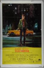 Taxi Driver (Columbia, 1976) One Sheet film poster, Crime starring Robert De Niro, Jodie Foster, Columbia, folded, 27 x 41 inches
