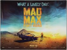 Mad Max (2015) Two British Quad film posters, teaser & main, Warner Brothers, rolled, 30 x 40 inches (2)
